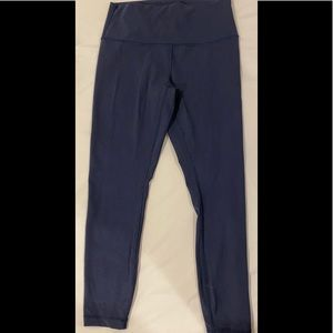 LULULEMON WUNDER UNDER HIGH RISE 25 in Navy